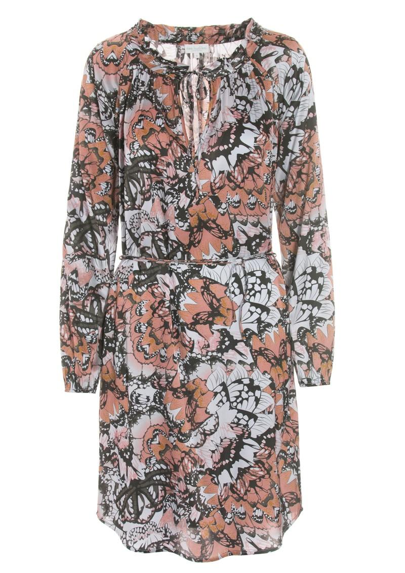 DEA KUDIBAL Amber Silk Dress - Papillon Coral main image