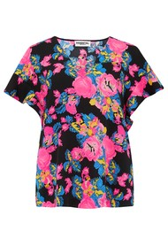 ESSENTIEL ANTWERP Sinai Floral Top - Combo 2 Black