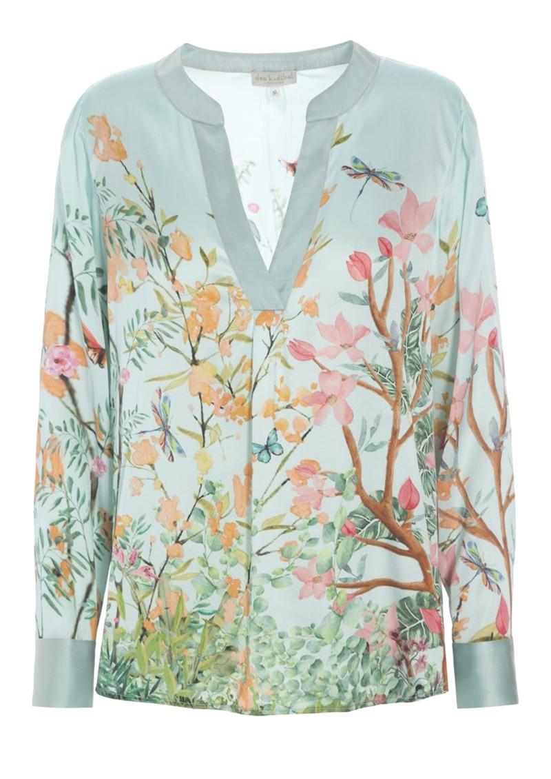 DEA KUDIBAL Santena Silk Blouse - Garden Sky main image