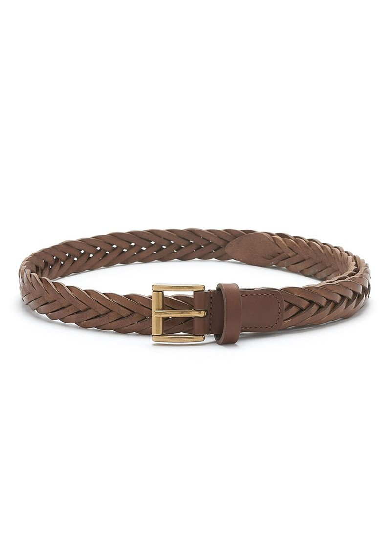 ANDERSONS Woven Leather Belt - Brown main image