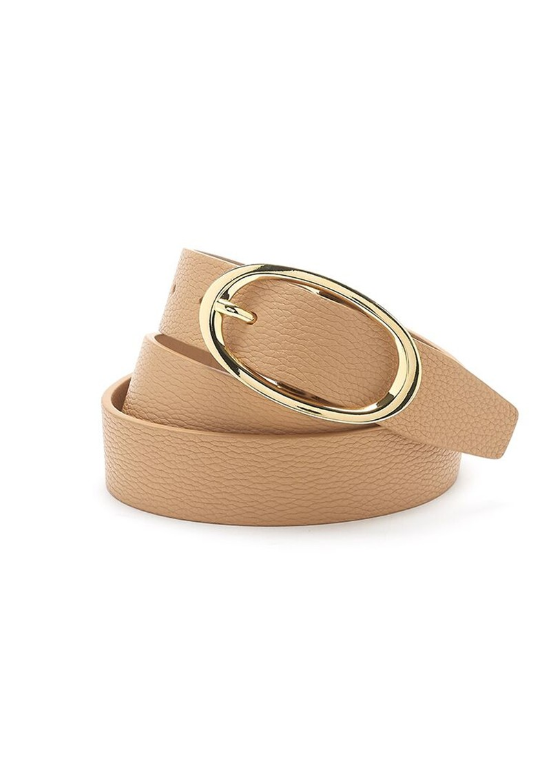 ANDERSONS Soft Leather Belt - Taupe  main image