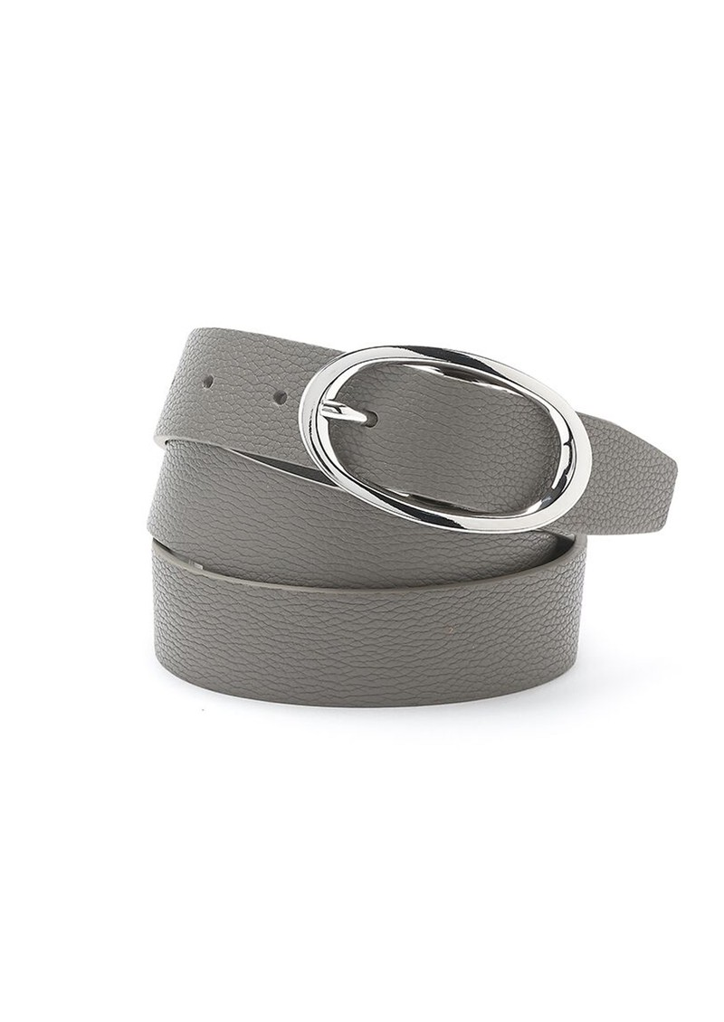 ANDERSONS Soft Leather Belt - Grey main image