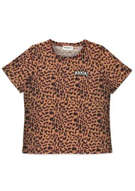 ESSENTIEL ANTWERP Saiden Leopard Print T-Shirt - Combo 1 & Black