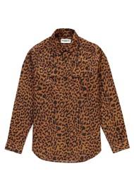 ESSENTIEL ANTWERP Sinus Leopard Print Shirt - Sesame