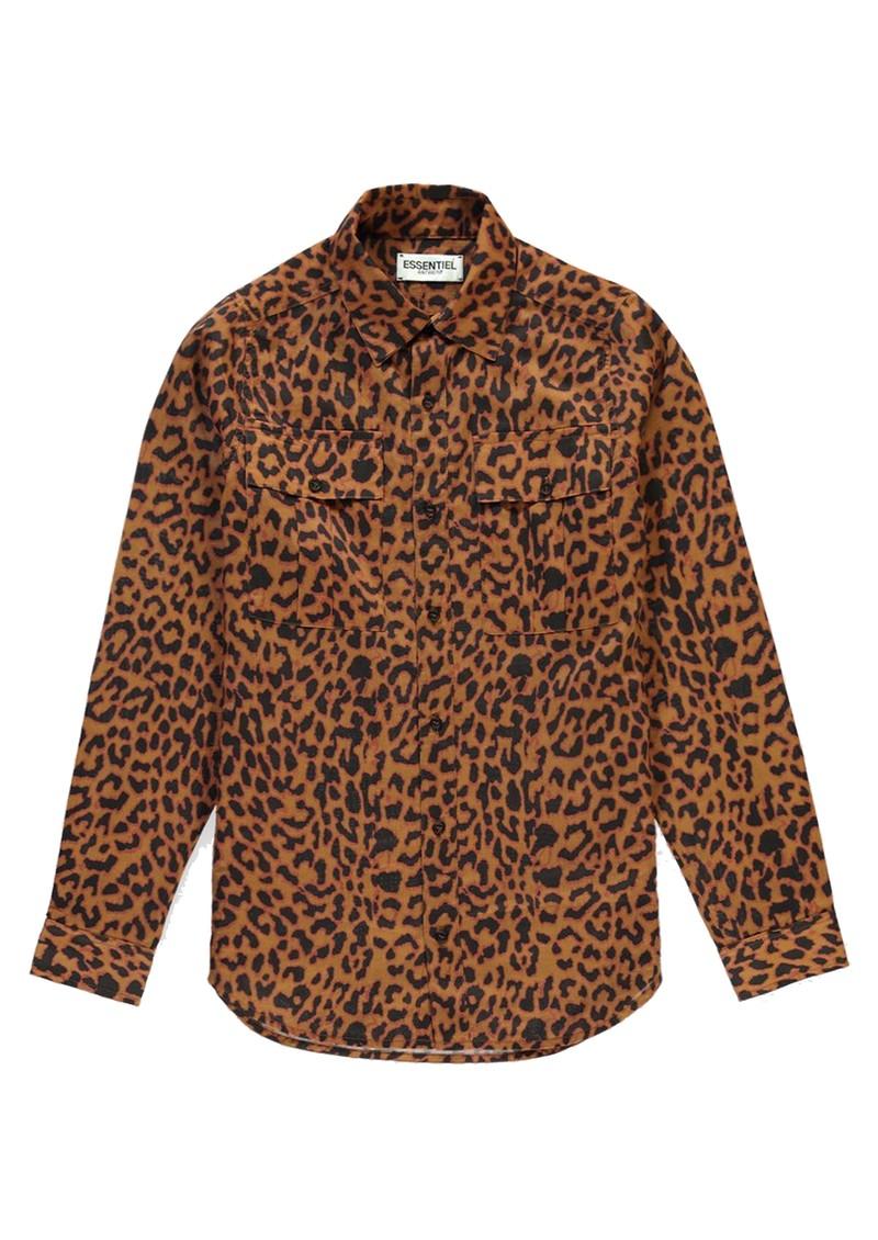 ESSENTIEL ANTWERP Sinus Leopard Print Shirt - Sesame main image