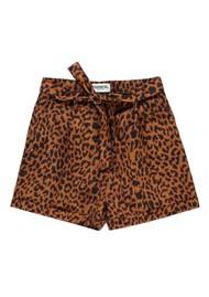 ESSENTIEL ANTWERP Leopard Shorts - Sesame