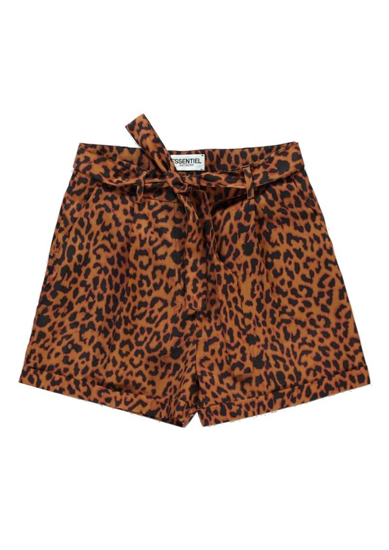 ESSENTIEL ANTWERP Leopard Shorts - Sesame main image