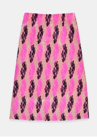 ESSENTIEL ANTWERP Siana Embroidered A Line Skirt - Very Berry
