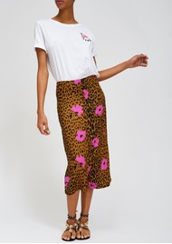 ESSENTIEL ANTWERP Sisters Leopard Pencil Skirt - Sesame