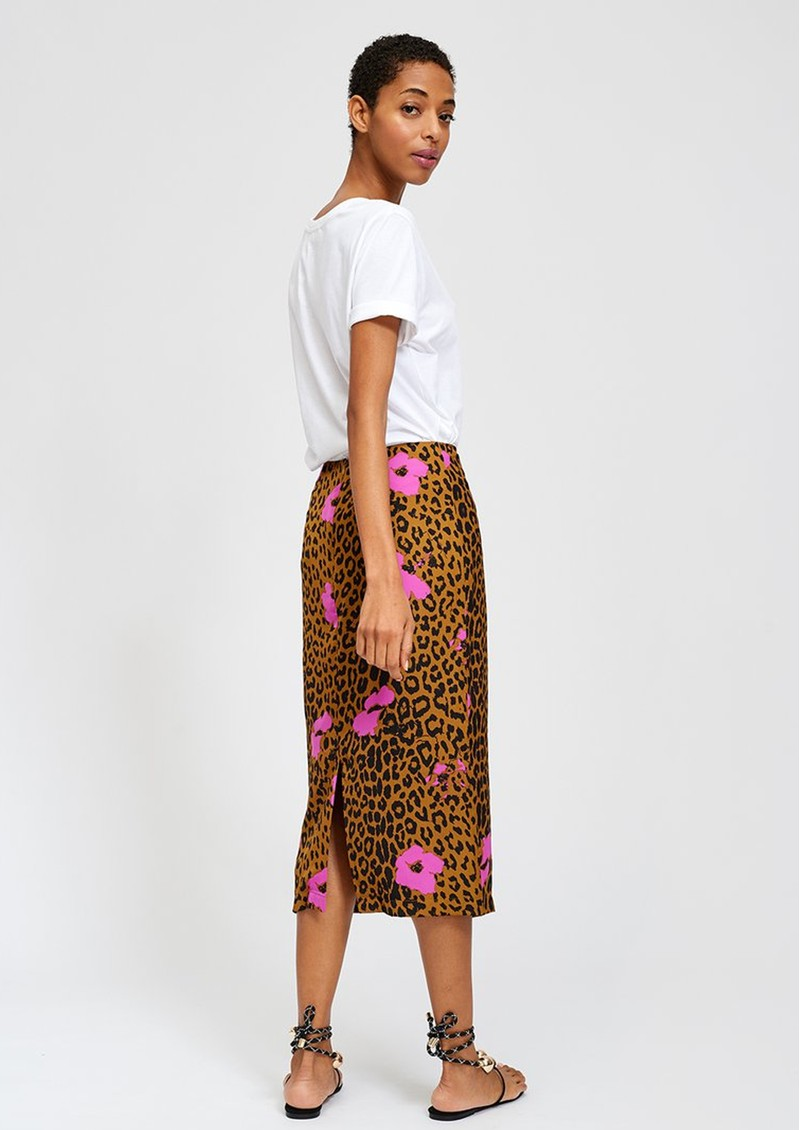 ESSENTIEL ANTWERP Sisters Leopard Pencil Skirt - Sesame main image