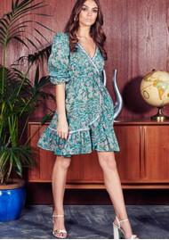 bb7bd85abc NEVE   NOOR Evisa Floral Dress - Aquamarine