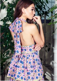 NEVE & NOOR Deia Halter Neck Dress - Rose Blush