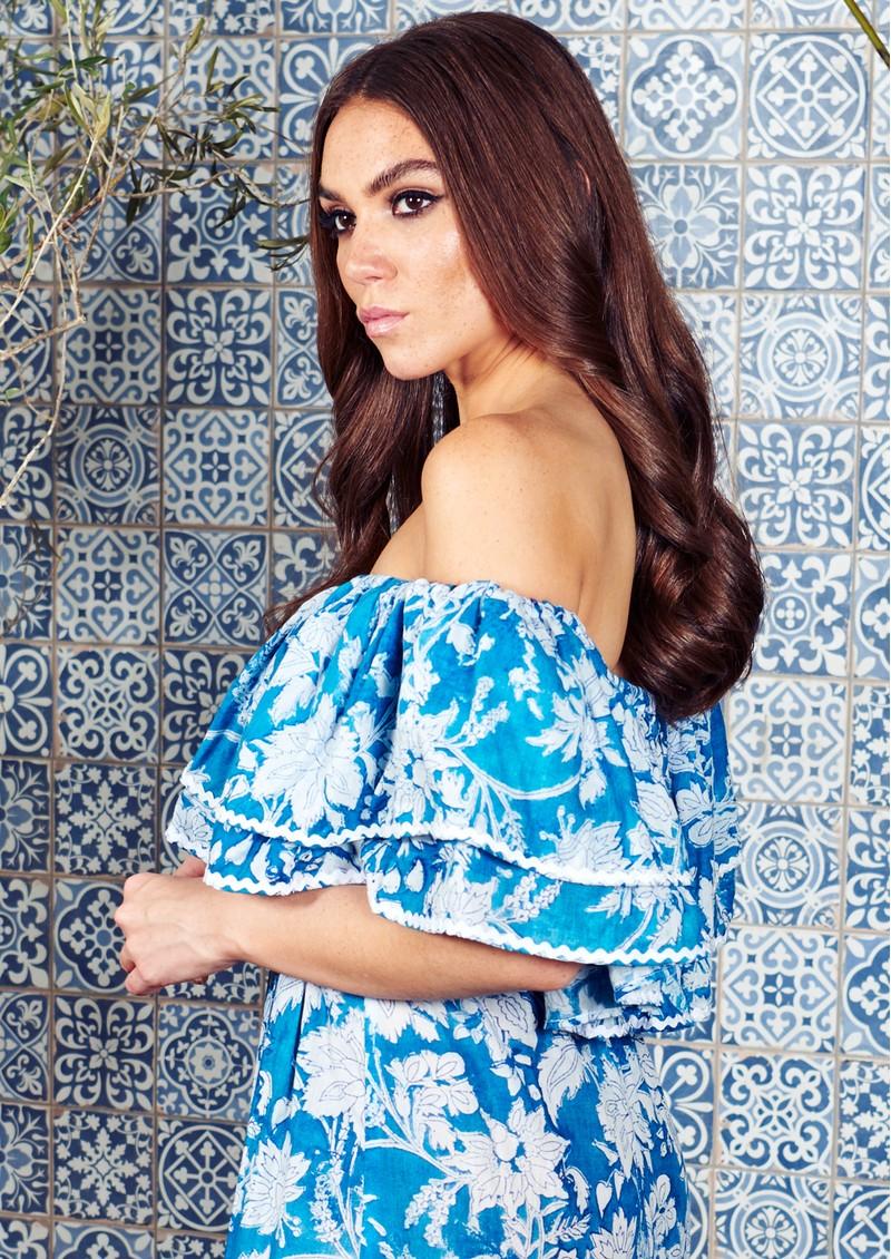 NEVE & NOOR Cala Maxi Dress - Azure main image