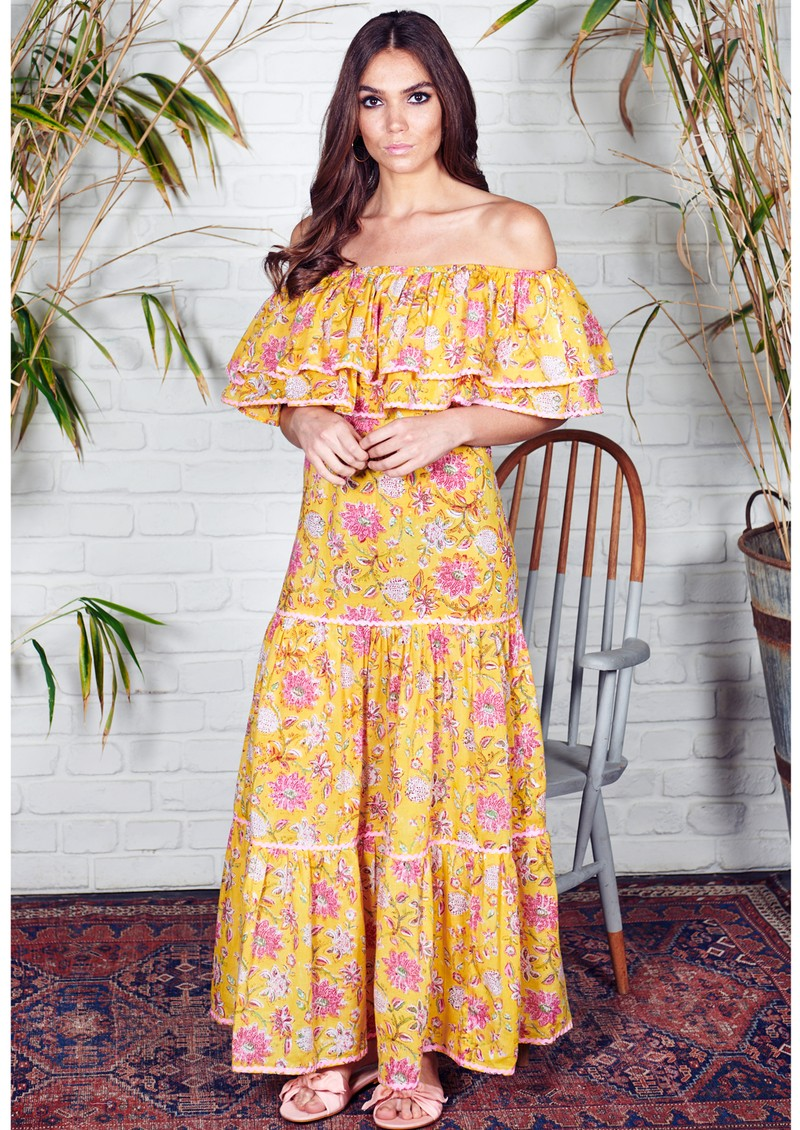 NEVE & NOOR Cala Maxi Dress - Sunflower main image