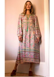 BAILEY & BUETOW Audrey Boho Dress - Pink Multi
