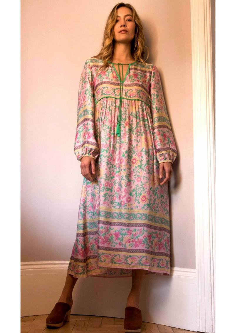 BAILEY & BUETOW Audrey Boho Dress - Pink Multi main image