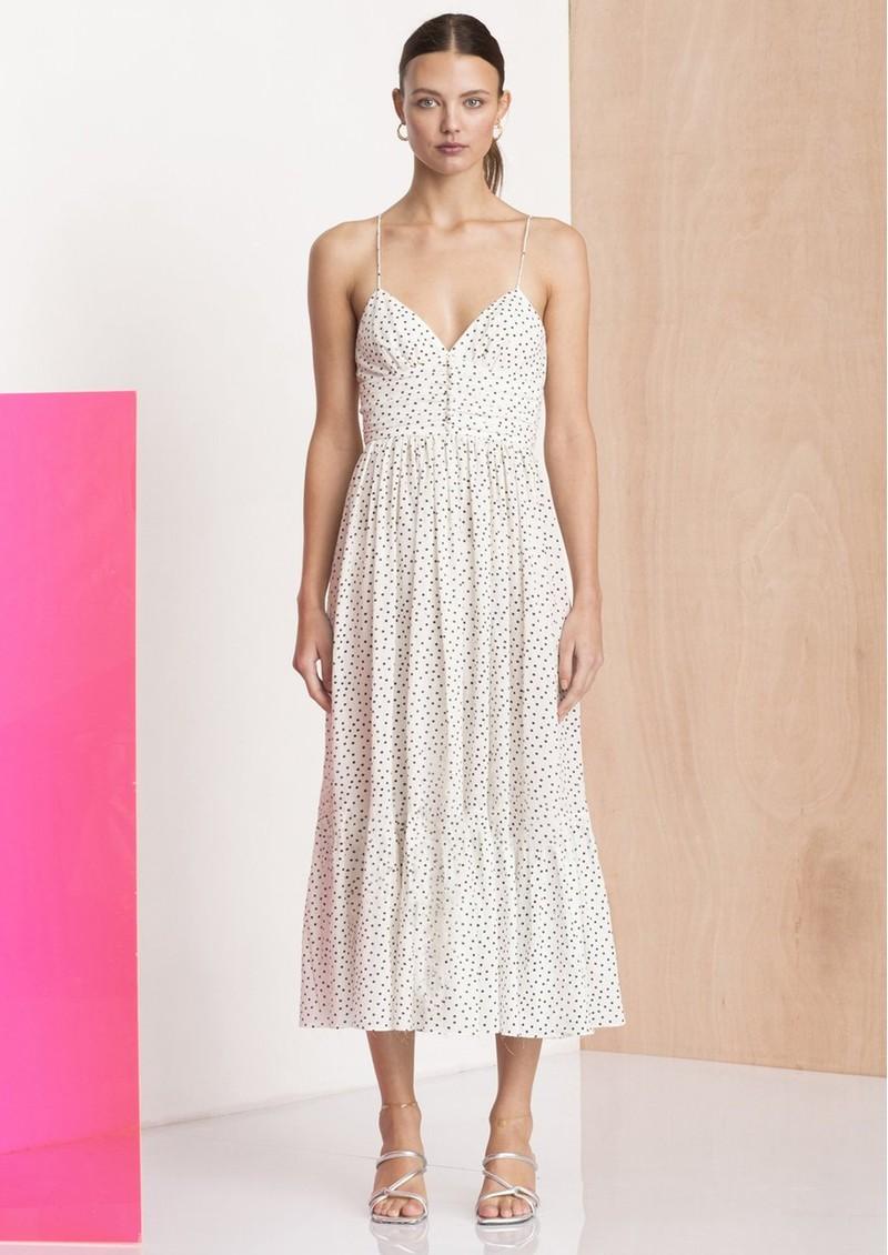 BEC & BRIDGE Miss Frenchie Polka Dot Midi Dress - White & black main image