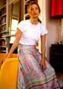 BAILEY & BUETOW Audrey Print Wrap Skirt - Pink Multi