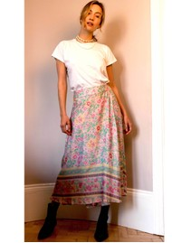 BAILEY & BUETOW Audrey Print Wrap Skirt - Pink Multi