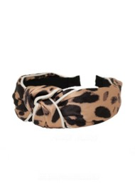 UNIVERSE OF US Large Leopard Headband - Natural
