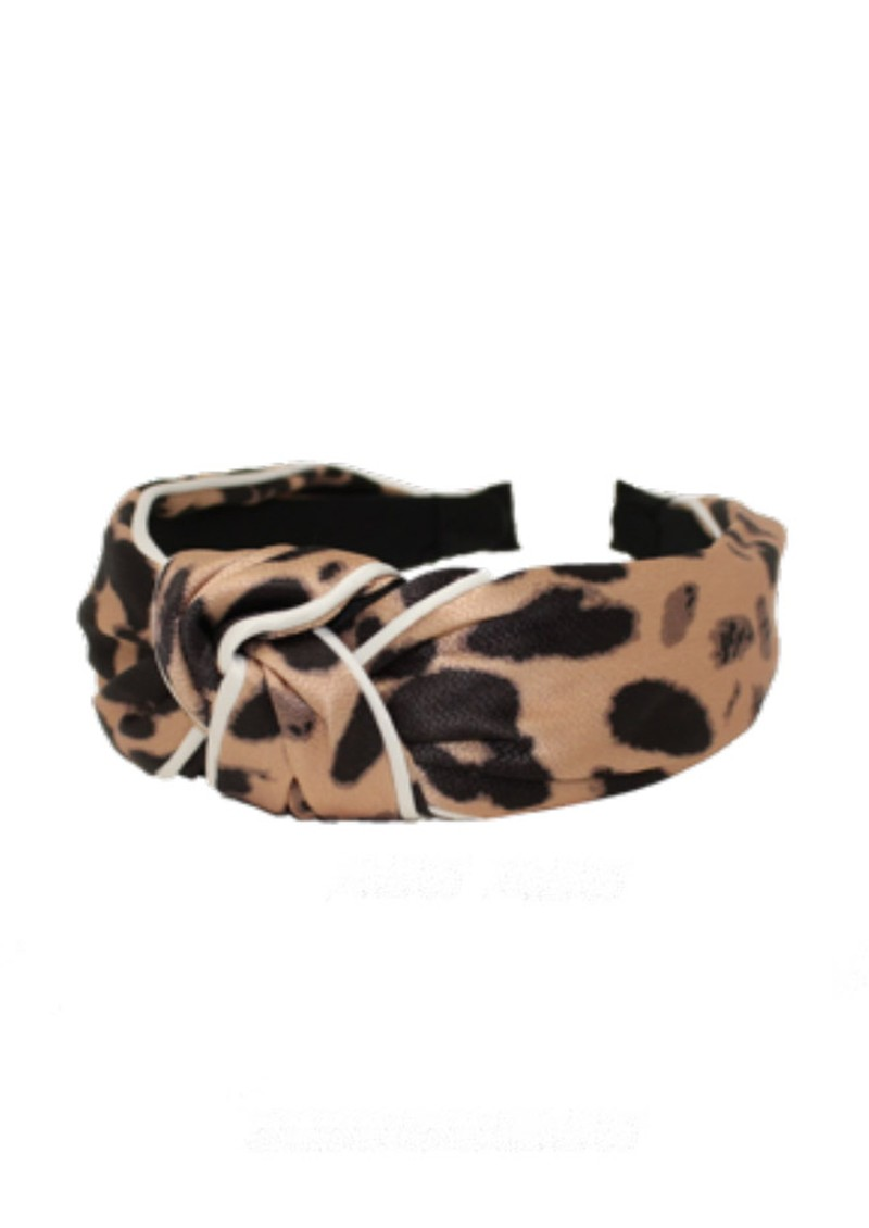 UNIVERSE OF US Large Leopard Headband - Natural main image