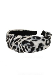 UNIVERSE OF US Large Leopard Headband - White