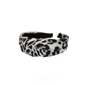 Large Leopard Headband - White