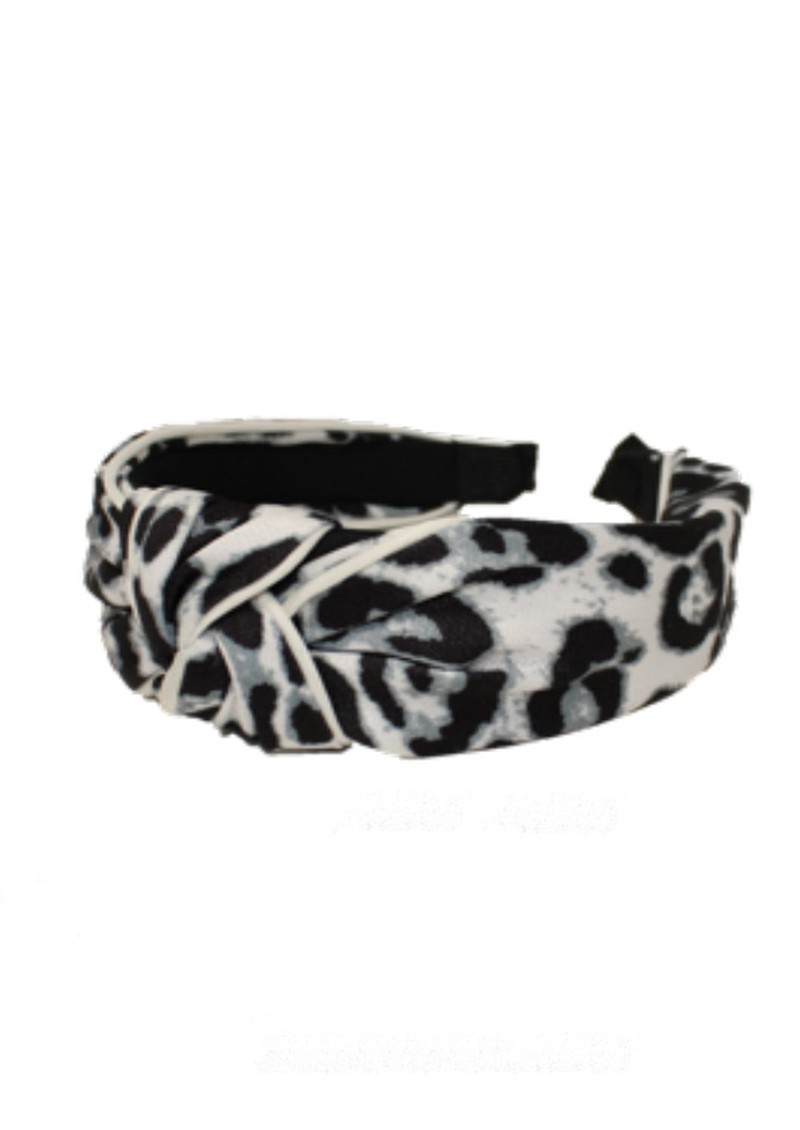 UNIVERSE OF US Large Leopard Headband - White main image