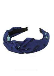 UNIVERSE OF US Slim Leopard Headband - Blue