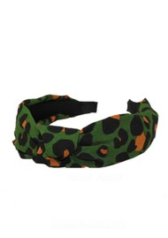 UNIVERSE OF US Slim Leopard Headband - Green