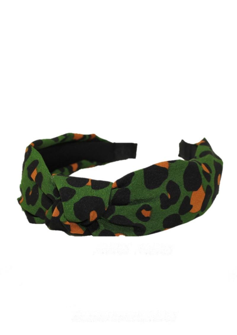 UNIVERSE OF US Slim Leopard Headband - Green  main image