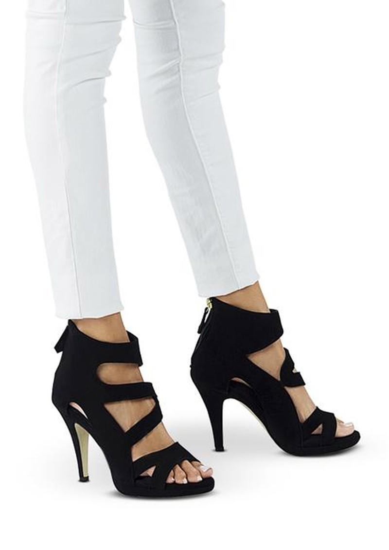 SARGOSSA Dare Suede Heels - Black main image