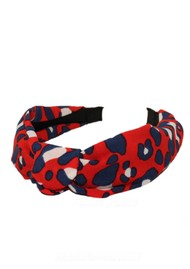 UNIVERSE OF US Slim Leopard Headband - Red
