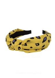 UNIVERSE OF US Slim Leopard Headband - Yellow