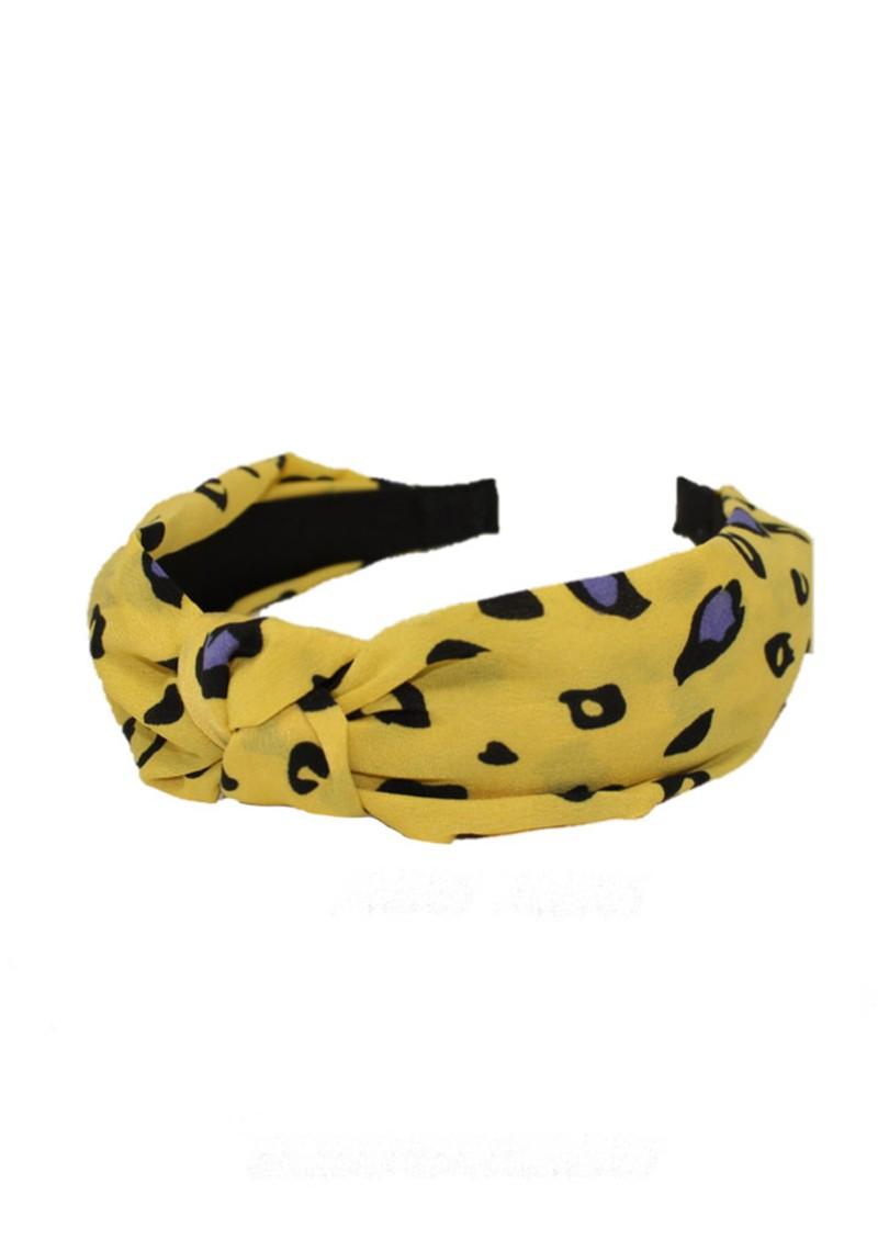UNIVERSE OF US Slim Leopard Headband - Yellow main image