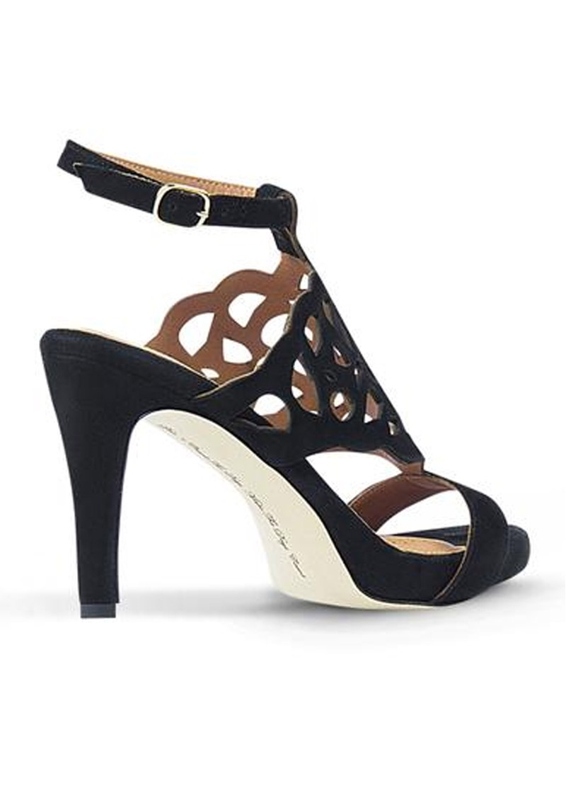 SARGOSSA Bliss Suede Heels - Black main image