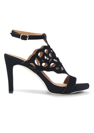 SARGOSSA Bliss Suede Heels - Black