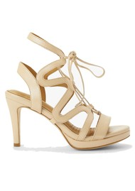 SARGOSSA Chic Leather Heels - Champagne