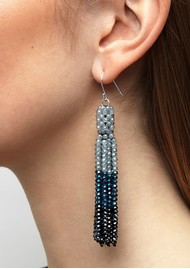 SUI AVA Alexis Crystal Tassel Earrings - Multi