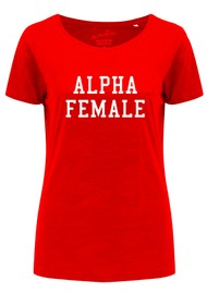 ON THE RISE Alpha Female Tee - Red