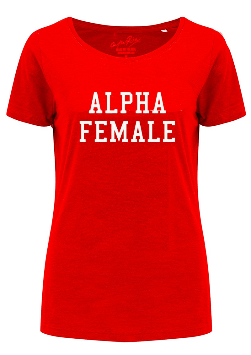 ON THE RISE Alpha Female Tee - Red main image