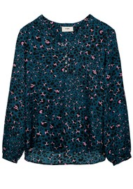 Pyrus Lizzie Silk Blouse - Animal Blue