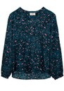 Lizzie Silk Blouse - Animal Blue additional image
