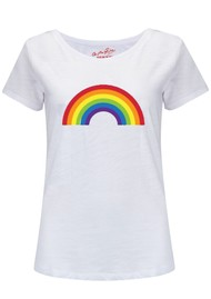 ON THE RISE Rainbow Tee - White