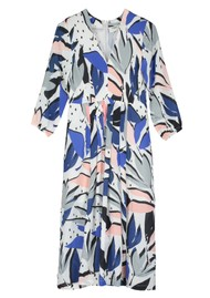 Pyrus Ingrid Midi Silk Dress - Block Print