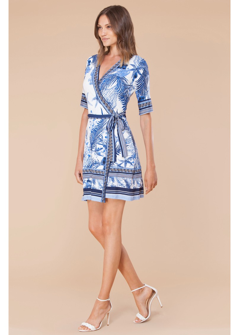 Hale Bob Naima Wrap Jersey Dress - Blue main image