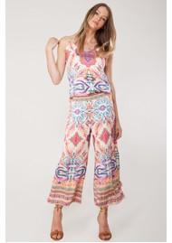 Hale Bob Xristina Printed Trousers - Coral