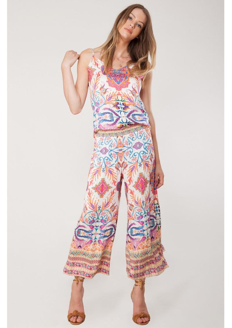 Hale Bob Xristina Printed Trousers - Coral main image