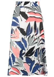 Pyrus Miranda Midi Silk Skirt - Block Print