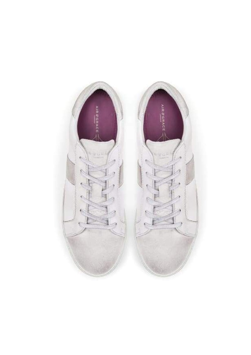 AIR & GRACE Cru Vintage Leather Trainer - Vintage White main image